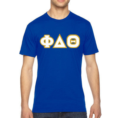 Phi Delta Theta American Apparel Jersey Tee with Twill - American Apparel 2001W - TWILL