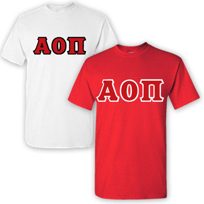 Alpha Omicron Pi Sorority 2 T-Shirt Pack - G500 - TWILL