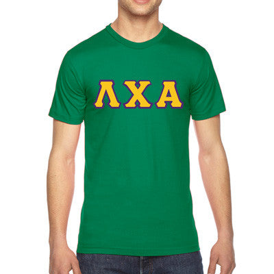Lambda Chi Alpha American Apparel Jersey Tee with Twill - American Apparel 2001 - TWILL