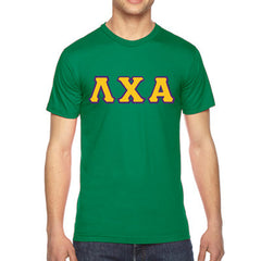 Lambda Chi Alpha American Apparel Jersey Tee with Twill - American Apparel 2001W - TWILL
