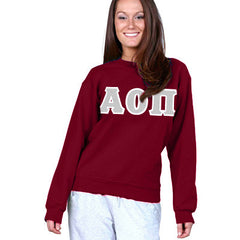 Alpha Omicron Pi Sorority 8oz Crewneck Sweatshirt - Gildan 18000 - TWILL