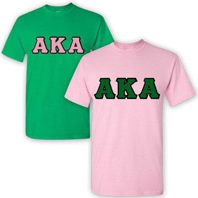 Alpha Kappa Alpha Sorority 2 T-Shirt Pack - G500 - TWILL
