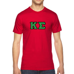 Kappa Sigma American Apparel Jersey Tee with Twill - American Apparel 2001W - TWILL