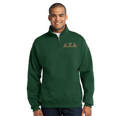 Lambda Chi Alpha Fraternity Embroidered Quarter-Zip Pullover - Jerzees 995M - EMB