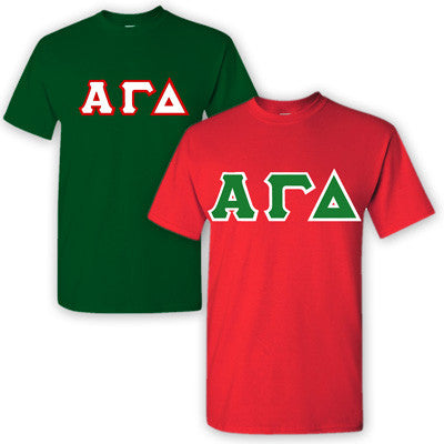 Alpha Gamma Delta Sorority 2 T-Shirt Pack - G500 - TWILL