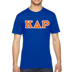Kappa Delta Rho American Apparel Jersey Tee with Twill - American Apparel 2001W - TWILL
