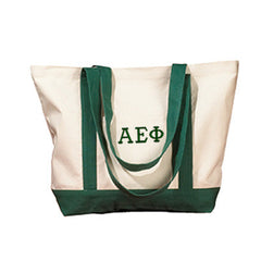 Alpha Epsilon Phi Sorority Embroidered Boat Tote - Bag Edge BE004 - EMB