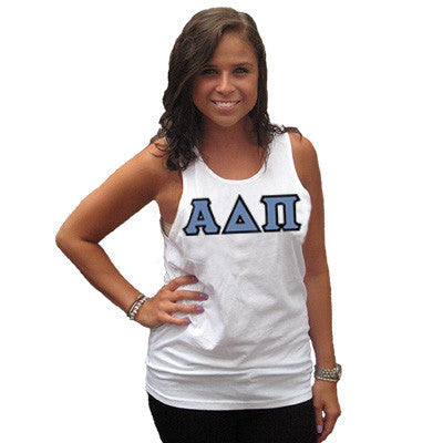 Alpha Delta Pi Sorority Unisex Tank Top with Twill - Next Level 3633 - TWILL