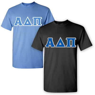 Alpha Delta Pi Sorority 2 T-Shirt Pack - G500 - TWILL
