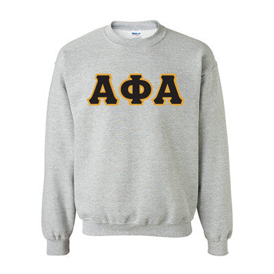 Alpha Phi Alpha Fraternity Standards Crewneck Sweatshirt - Gildan 18000 - Twill