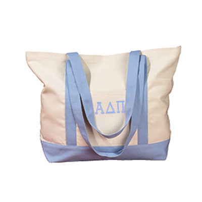 Alpha Delta Pi Sorority Embroidered Boat Tote - Bag Edge BE004 - EMB