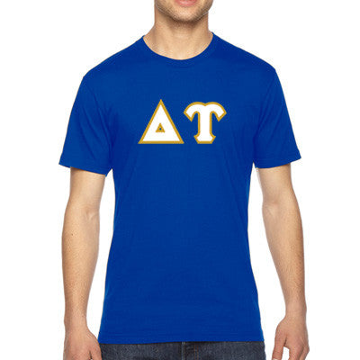 Delta Upsilon American Apparel Jersey Tee with Twill - American Apparel 2001W - TWILL