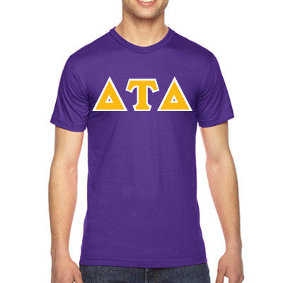 Delta Tau Delta American Apparel Jersey Tee with Twill - American Apparel 2001W - TWILL