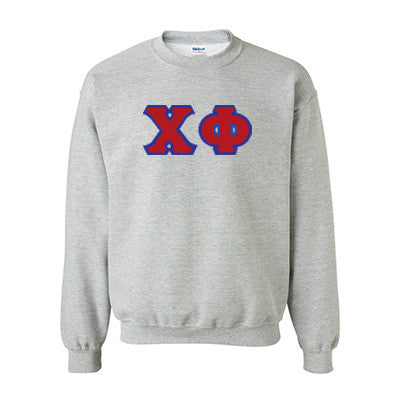 Chi Phi Fraternity Standards Crewneck Sweatshirt - Gildan 18000 - Twill