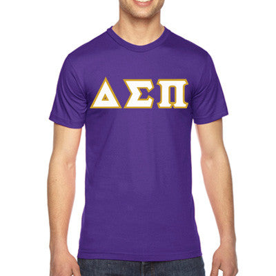 Delta Sigma Pi American Apparel Jersey Tee with Twill - American Apparel 2001W - TWILL