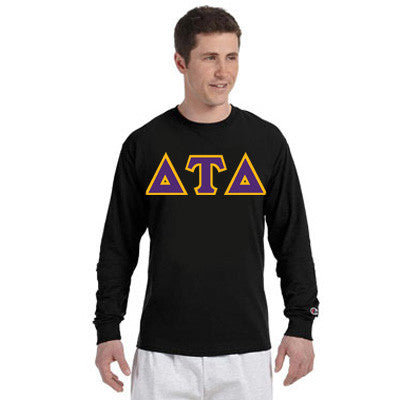 Delta Tau Delta Greek Champion Long-Sleeve Tee - Champion CC8C - TWILL