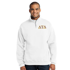 Delta Tau Delta Fraternity Embroidered Quarter-Zip Pullover - Jerzees 995M - EMB