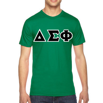 Delta Sigma Phi American Apparel Jersey Tee with Twill - American Apparel 2001W - TWILL