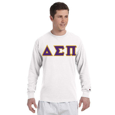 Delta Sigma Pi Greek Champion Long-Sleeve Tee - Champion CC8C - TWILL