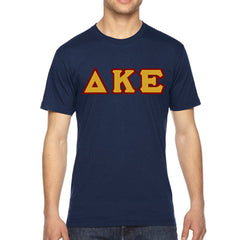 Delta Kappa Epsilon American Apparel Jersey Tee with Twill - American Apparel 2001W - TWILL
