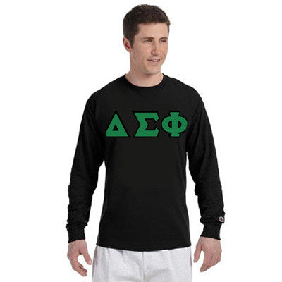 Delta Sigma Phi Greek Champion Long-Sleeve Tee - Champion CC8C - TWILL