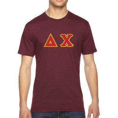 Delta Chi American Apparel Jersey Tee with Twill - American Apparel 2001W - TWILL