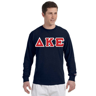 Delta Kappa Epsilon Greek Champion Long-Sleeve Tee - Champion CC8C - TWILL
