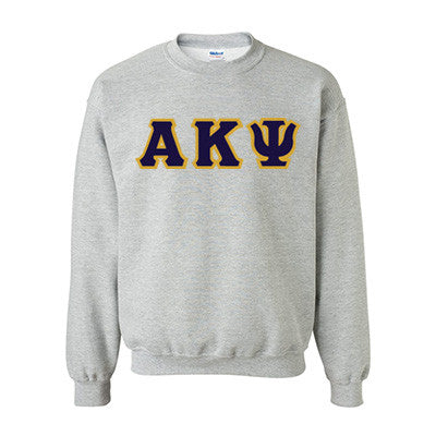 Alpha Kappa Psi Fraternity Standards Crewneck Sweatshirt - Gildan 18000 - Twill