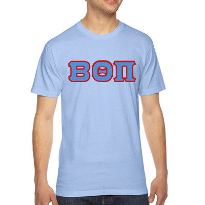 Beta Theta Pi American Apparel Jersey Tee with Twill - American Apparel 2001W - TWILL