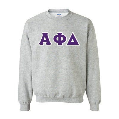 Alpha Phi Delta Fraternity Standards Crewneck Sweatshirt - Gildan 18000 - Twill
