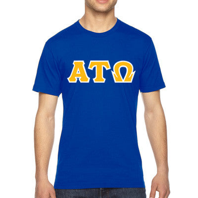 Alpha Tau Omega American Apparel Jersey Tee with Twill - American Apparel 2001W - TWILL
