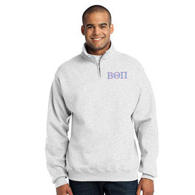 50b3b370fae Beta Theta Pi Fraternity Embroidered Quarter-Zip Pullover - Jerzees 995M -  EMB