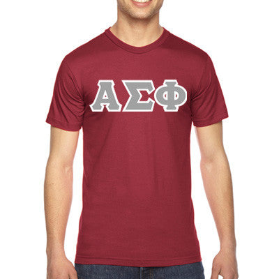 Alpha Sigma Phi American Apparel Jersey Tee with Twill - American Apparel 2001W - TWILL