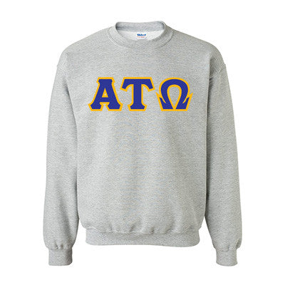 Alpha Tau Omega Fraternity Standards Crewneck Sweatshirt - Gildan 18000 - Twill