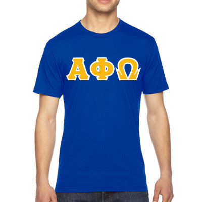 Alpha Phi Omega American Apparel Jersey Tee with Twill - American Apparel 2001 - TWILL