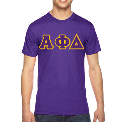Alpha Phi Delta American Apparel Jersey Tee with Twill - American Apparel 2001 - TWILL