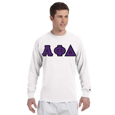 Alpha Phi Delta Greek Champion Long-Sleeve Tee - Champion CC8C - TWILL