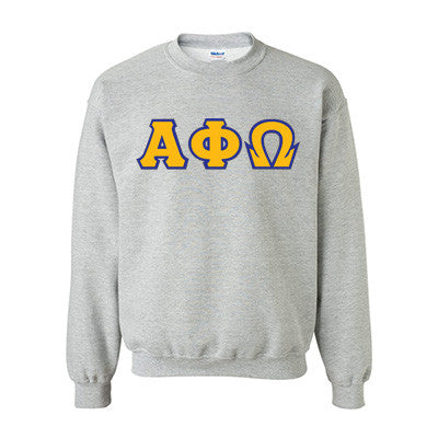 Alpha Phi Omega Fraternity Standards Crewneck Sweatshirt - Gildan 18000 - Twill