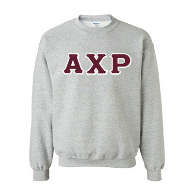 Alpha Chi Rho Fraternity Standards Crewneck Sweatshirt - Gildan 18000 - Twill