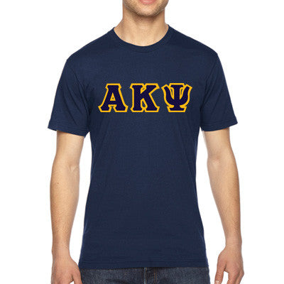 Alpha Kappa Psi American Apparel Jersey Tee with Twill - American Apparel 2001W - TWILL