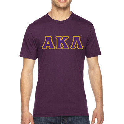 Alpha Kappa Lambda American Apparel Jersey Tee with Twill - American Apparel 2001W - TWILL