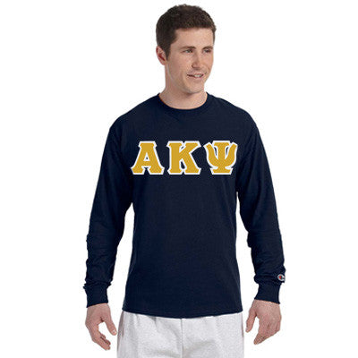 Alpha Kappa Psi Greek Champion Long-Sleeve Tee - Champion CC8C - TWILL