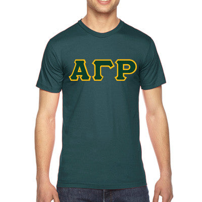 Alpha Gamma Rho American Apparel Jersey Tee with Twill - American Apparel 2001 - TWILL