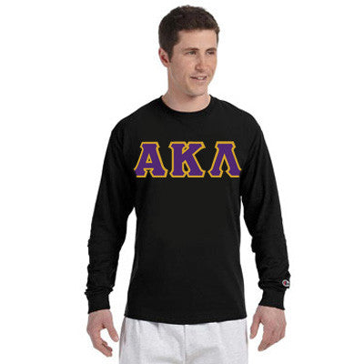 Alpha Kappa Lambda Greek Champion Long-Sleeve Tee - Champion CC8C - TWILL