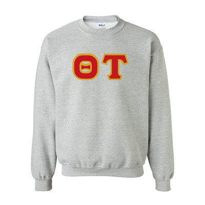 Theta Tau Fraternity Standards Crewneck Sweatshirt - Gildan 18000 - Twill
