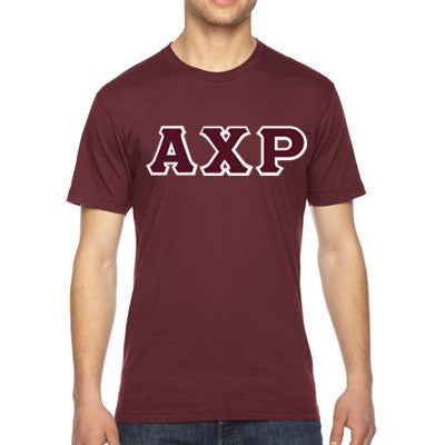 Alpha Chi Rho American Apparel Jersey Tee with Twill - American Apparel 2001W - TWILL