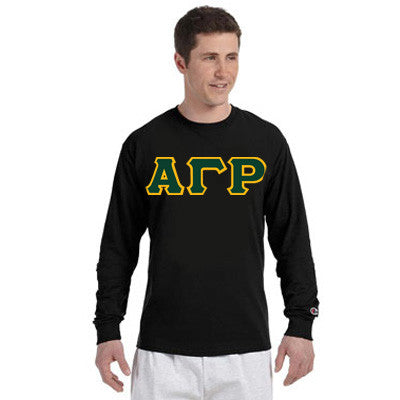 Alpha Gamma Rho Greek Champion Long-Sleeve Tee - Champion CC8C - TWILL