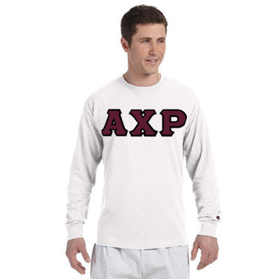 Alpha Chi Rho Greek Champion Long-Sleeve Tee - Champion CC8C - TWILL