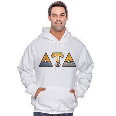 Fraternity Panoramic Printed Hooded Sweatshirt - Gildan 18500 - SUB