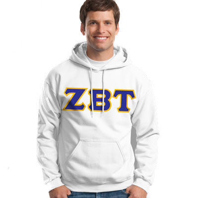 Zeta Beta Tau Hooded Sweatshirt - Gildan 18500